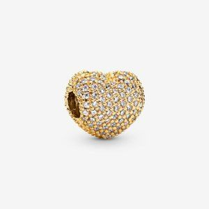 🌸Pandora Pavé Heart Clip Charm